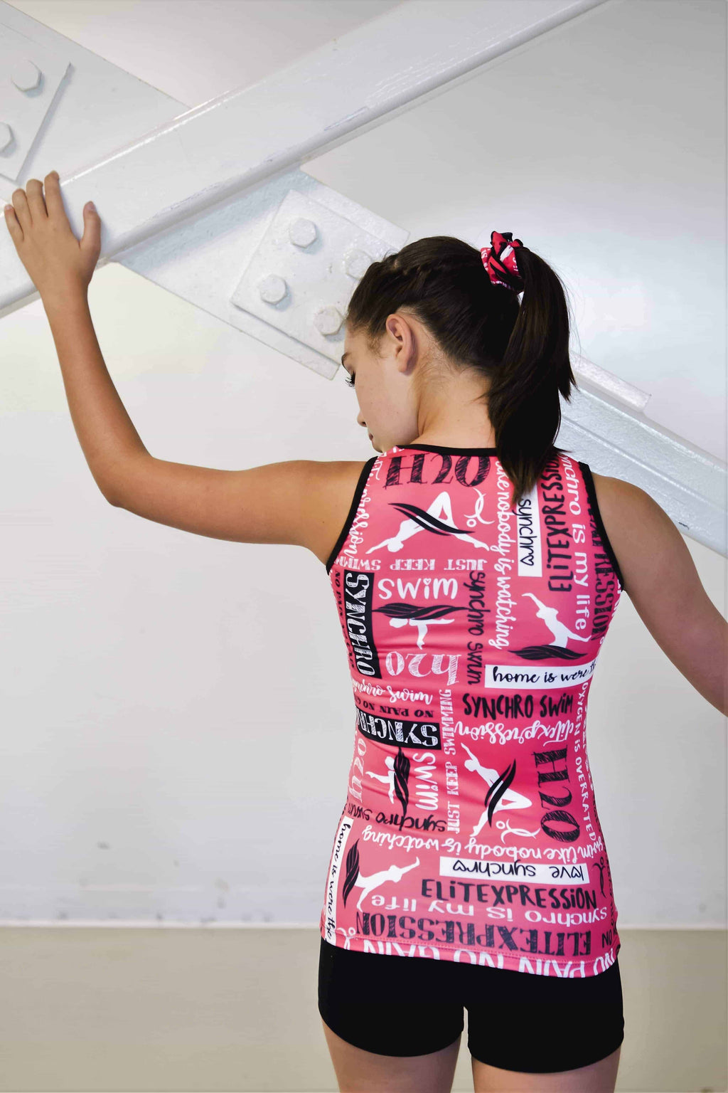 Swimming Training Tank Top (Pink) - Elite Xpression