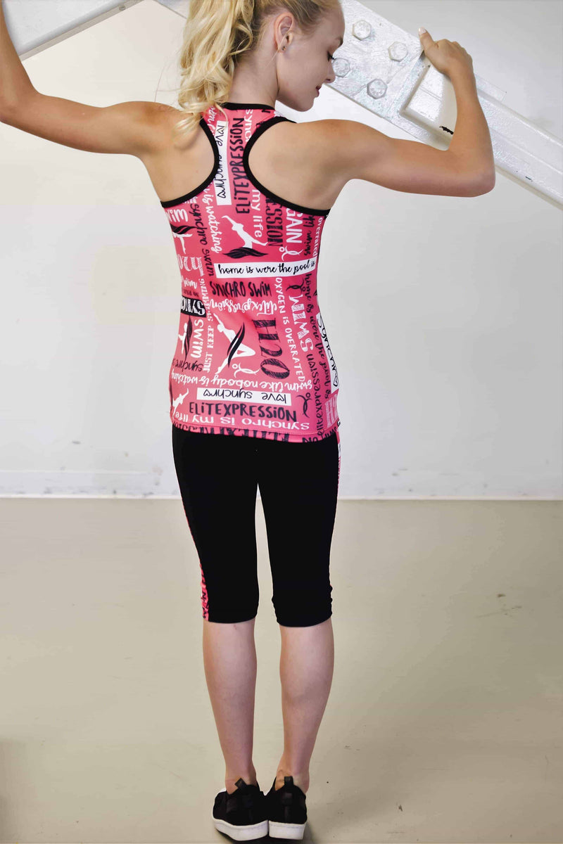 Racerback Training H2O Tank Top - Pink - Elite Xpression