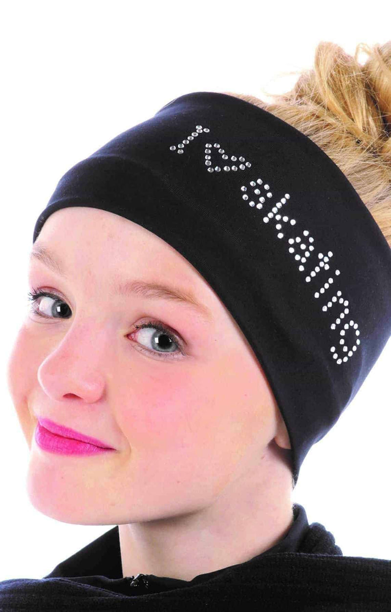 I LOVE SKATING Headband - Black - Elite Xpression