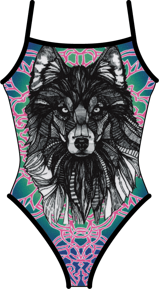 Wolf Mandala (Black Reversible)