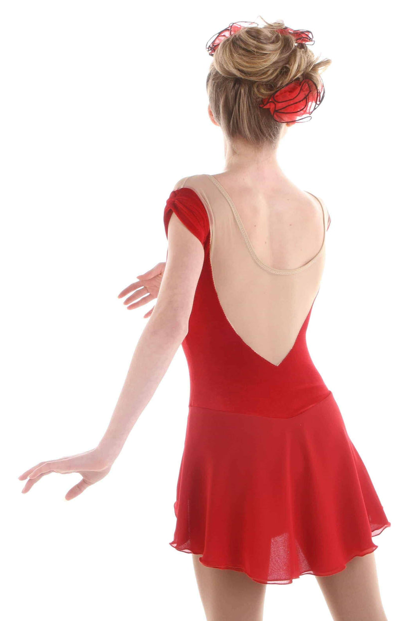 Gracie Gold's Red Rose Dress - Elite Xpression