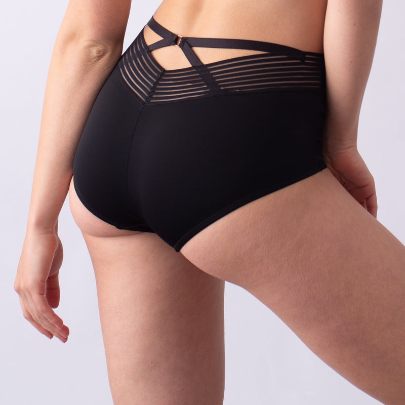 ambition black brief high waisted projectme