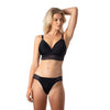 AMBITION TRIANGLE BLACK CONTOUR NURSING BRA - WIREFREE