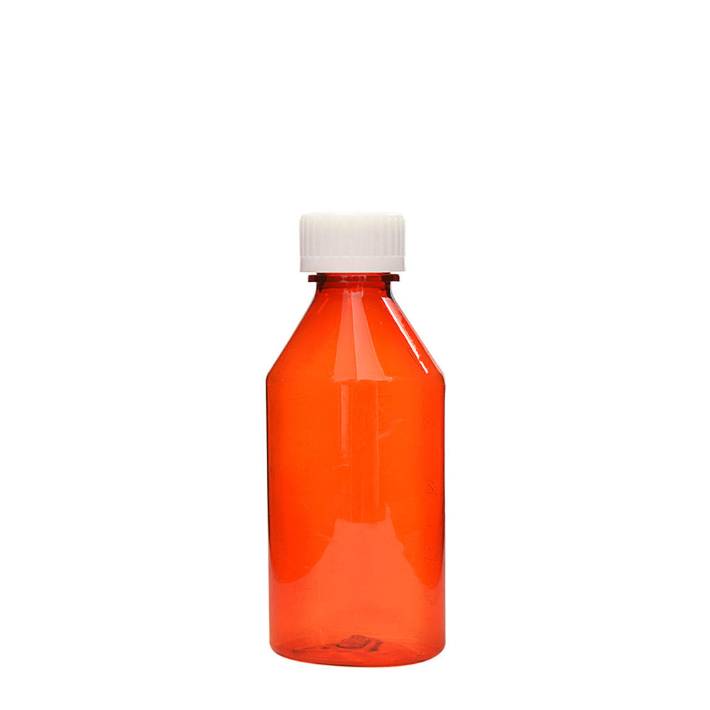 Amber Oval Bottles w/Oral Adapters 4 oz.