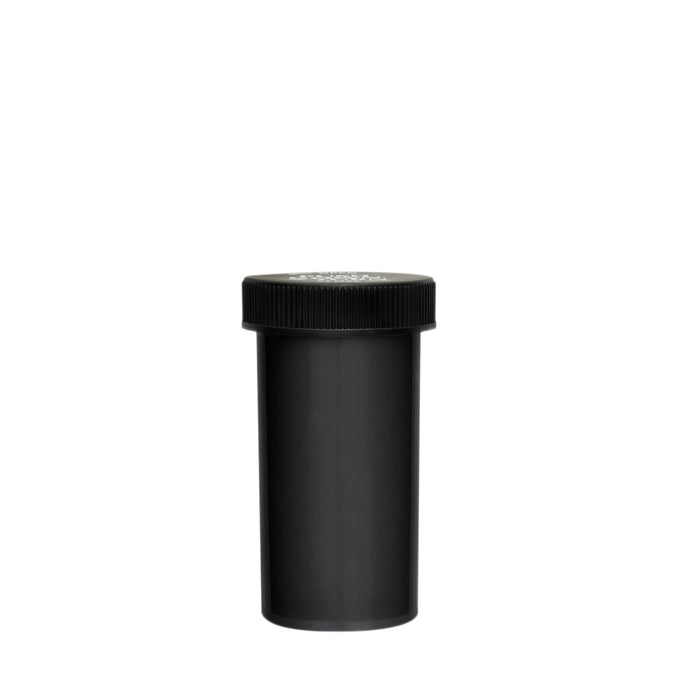13 Dram Palm & Turn Cap Vial Black