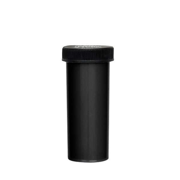 16 Dram Palm & Turn Cap Vial Black