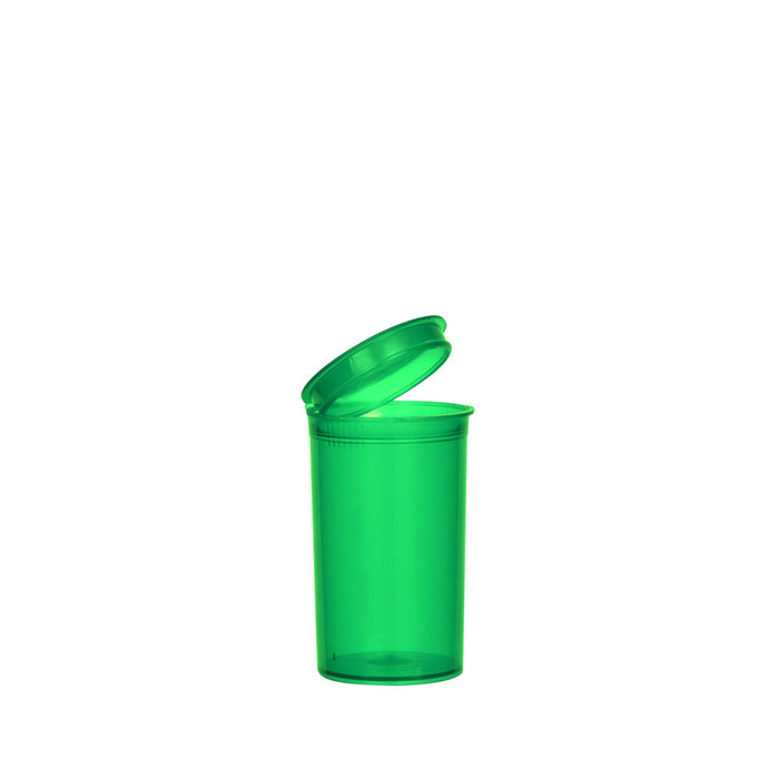 Green Pop Top Bottle 19 Dram