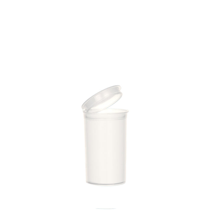 White Pop Top Bottle 19 Dram