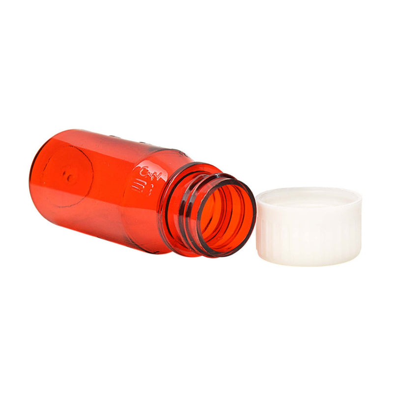Amber Oval Bottles w/Oral Adapters 1 oz.