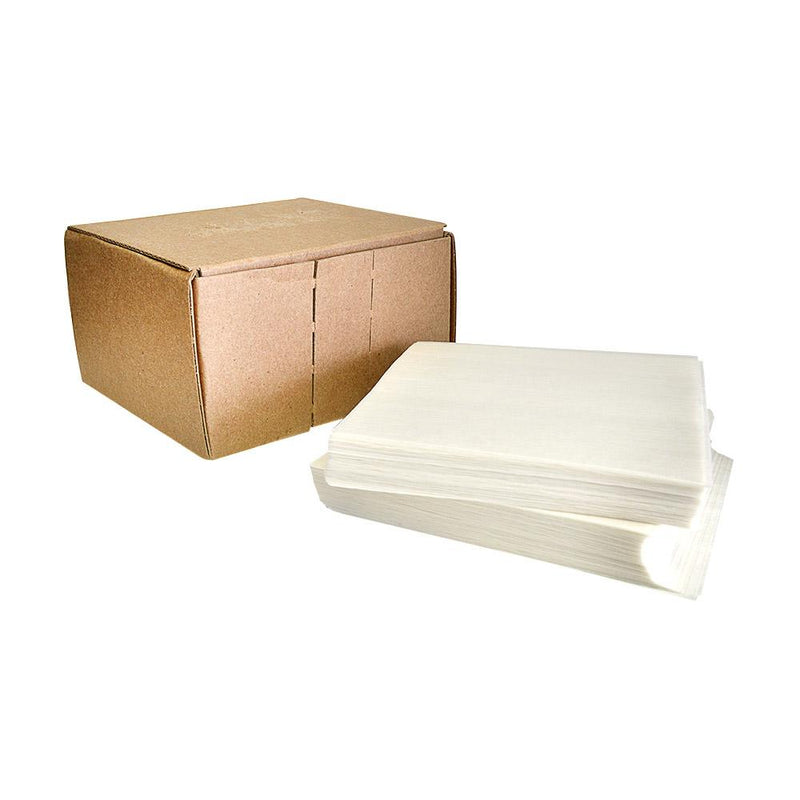 "Silicone Coated Parchment Paper - White - 4"" x 4"" - 1,000 Count"