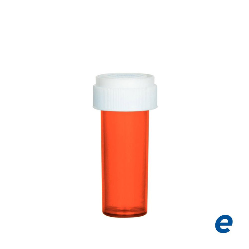 Economy Reversible Cap Vial Red 8 Dram