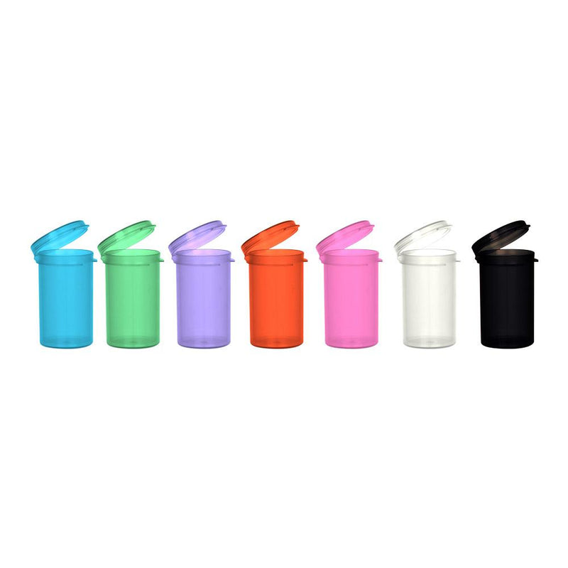 6 Dram Hinged Lid Vials all colors