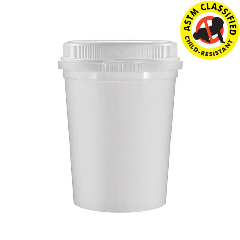 16 OZ Child Resistant & Tamper Evident Container (Fits Ounce) - 624 Count