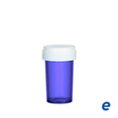 Economy Reversible Cap Vial Purple 20 Dram