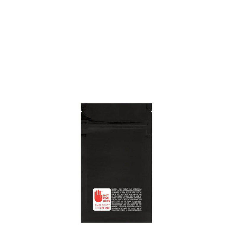 Mylar Bag WA Vista Black 1/8 Ounce