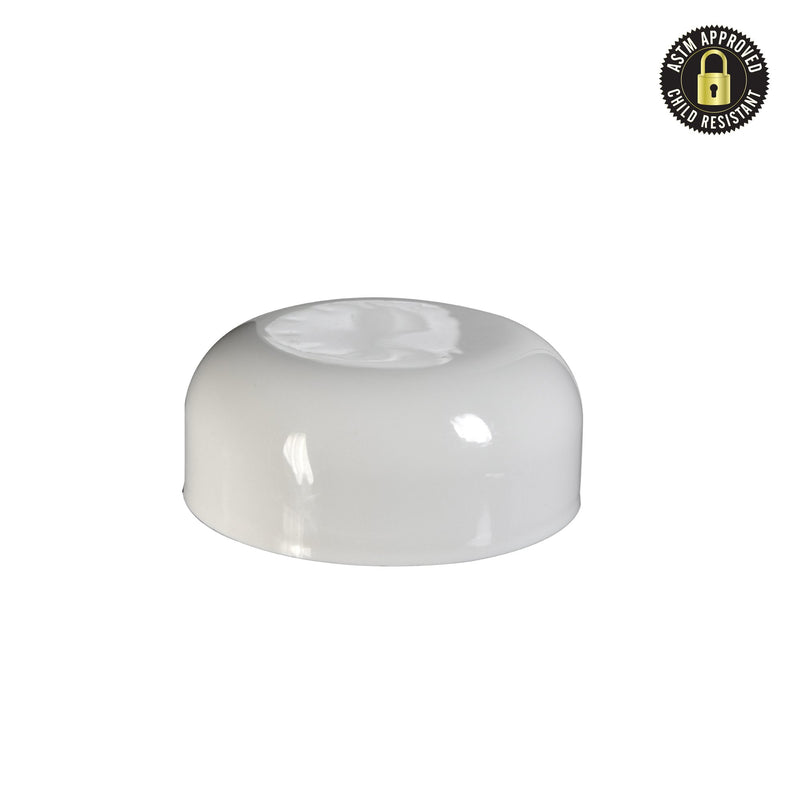 Arched Glossy White Child Resistant Cap 53 MM - 120 Count