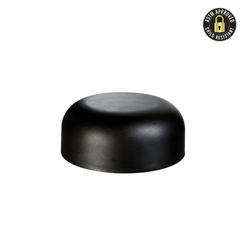 Arched Matte Black Child Resistant Cap 53 MM - 120 Count