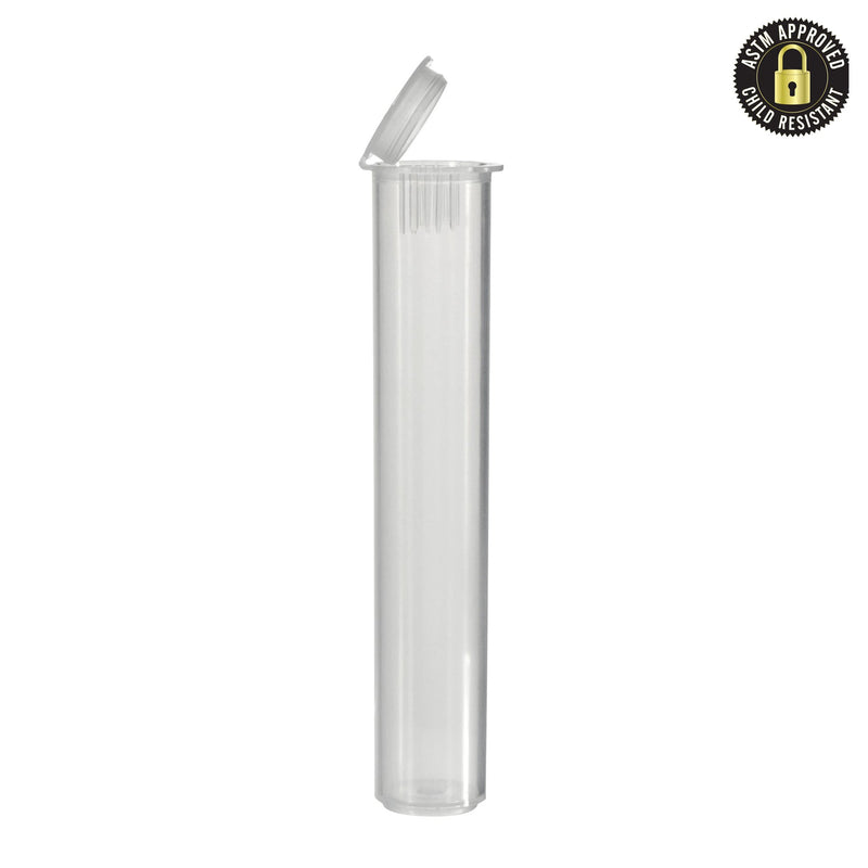 Child Resistant Vape Cartridge Tube Clear 80MM – 1000 Count