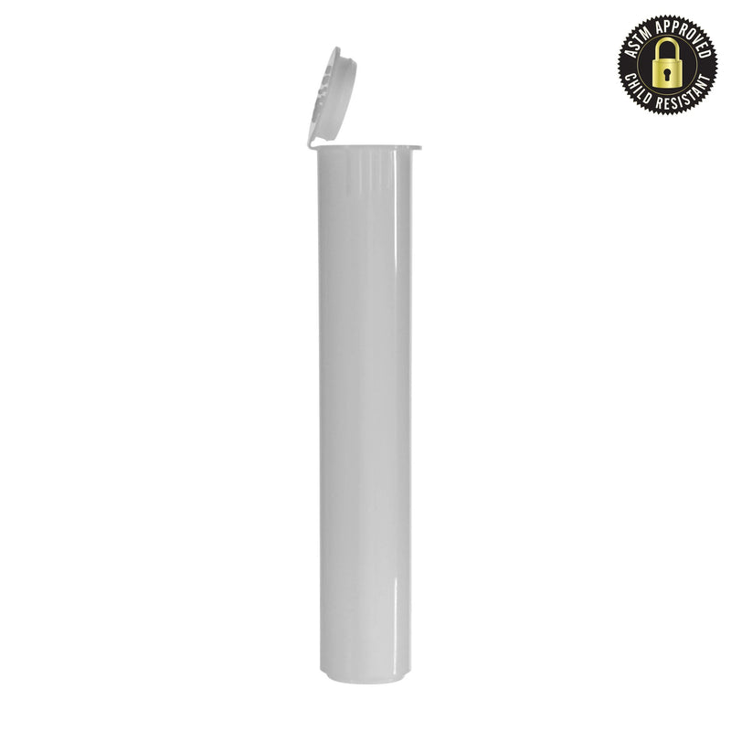 Child Resistant Vape Cartridge Tube White 80MM – 1000 Count