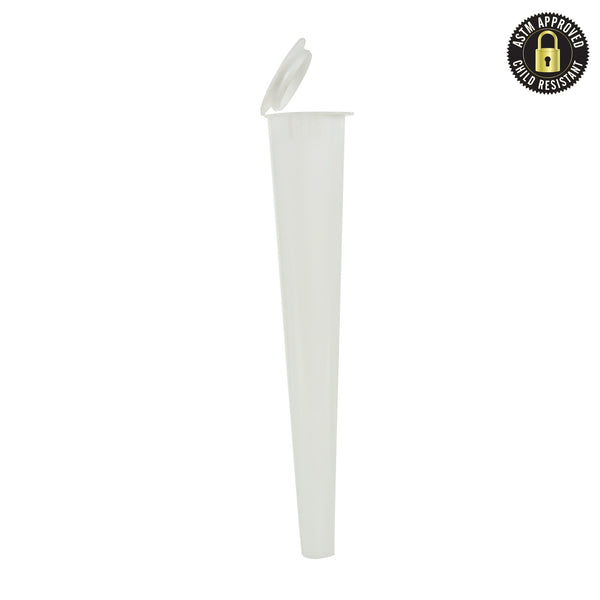 Opaque White Child Resistant Conical Tube 109MM – 1,000 Count