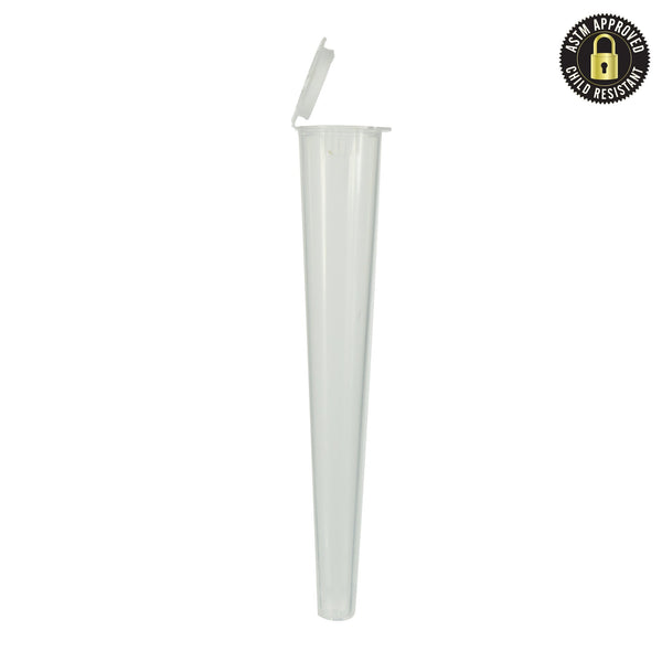 Clear Child Resistant Conical Tube 109MM - 1.000 Count