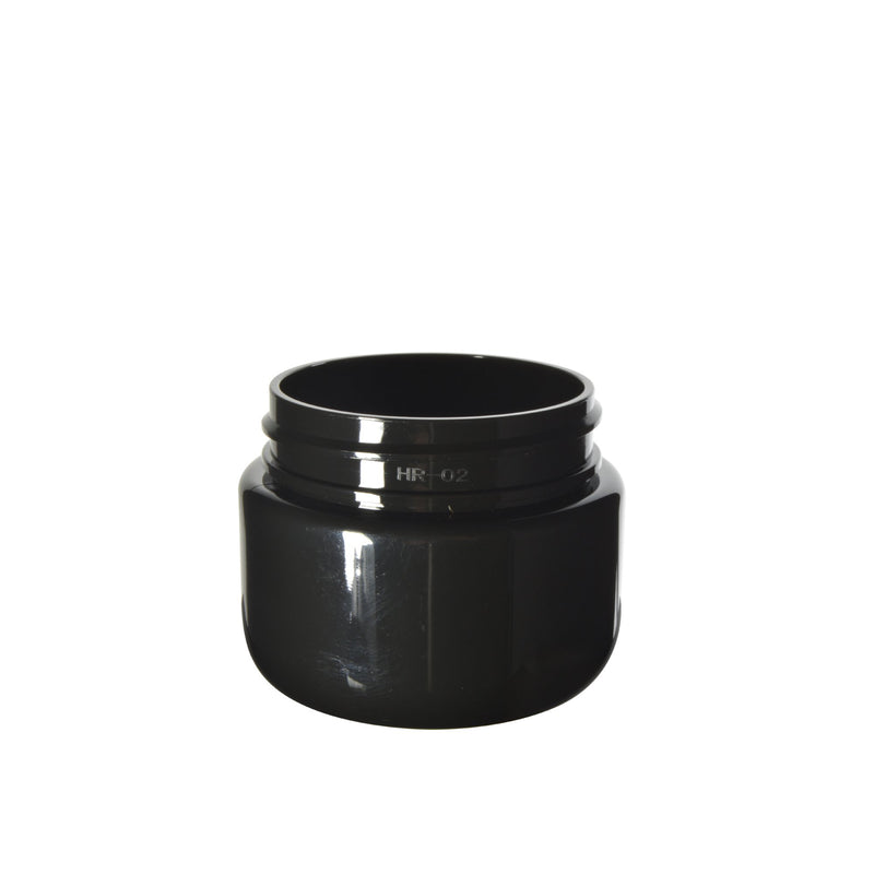 Black Plastic Child Resistant Jar 20 Dram - 600 Count JAR ONLY