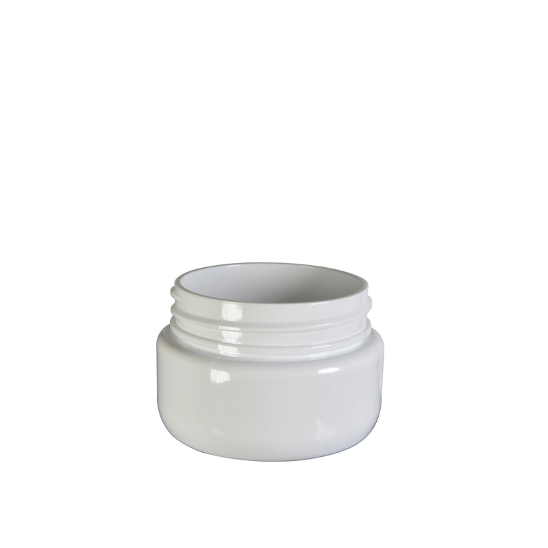 White Plastic Child Resistant Jar Symmetric Jar 2 oz - 600 Count JAR ONLY