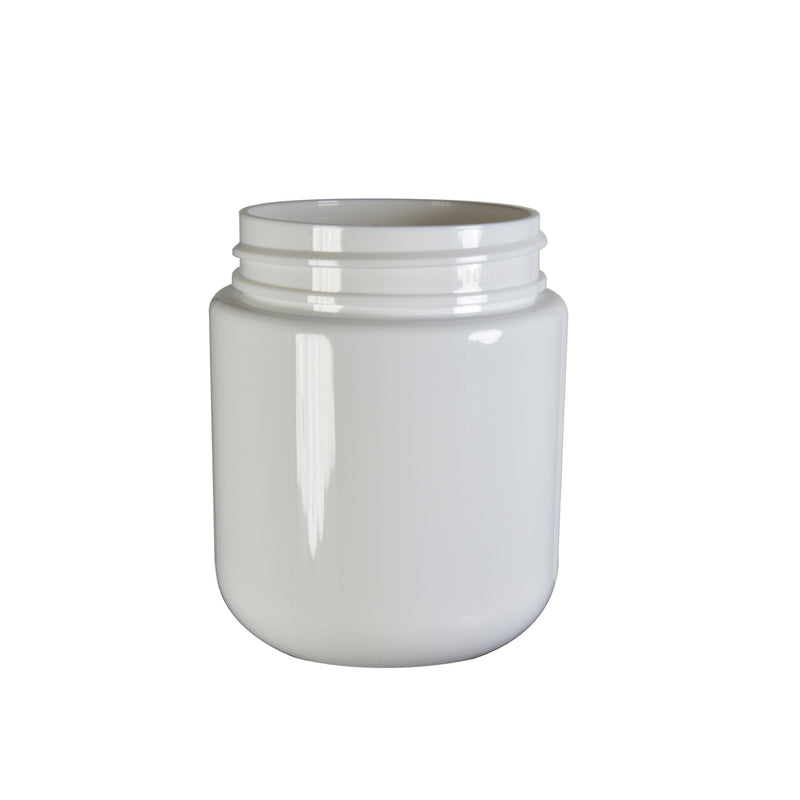 White Plastic Child Resistant Jar 40 Dram - 600 Count JAR ONLY