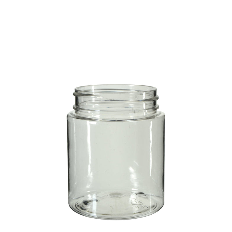 Clear Plastic Symmetric Child Resistant Jar 40 Dram - 600 Count