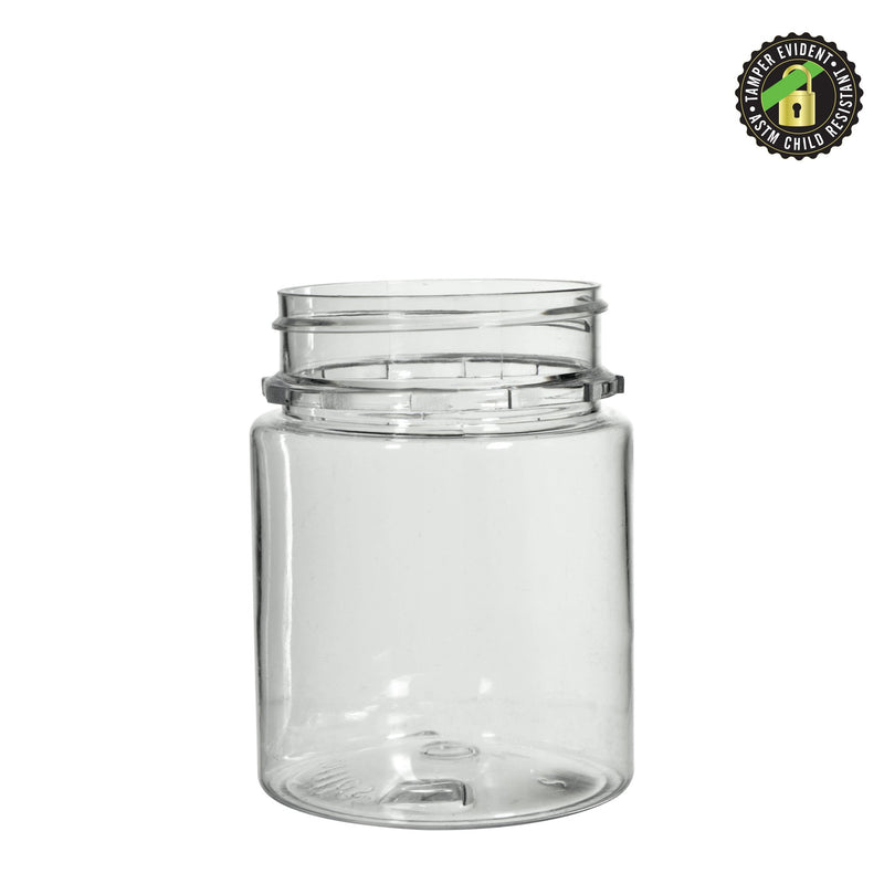 Clear Plastic Tamper Evident CR Jar 40 Dram – 600 Count