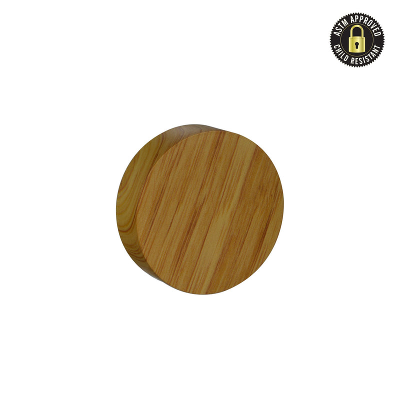 Flat Ash Wood Print Child Resistant Cap 53 MM - 120 Count