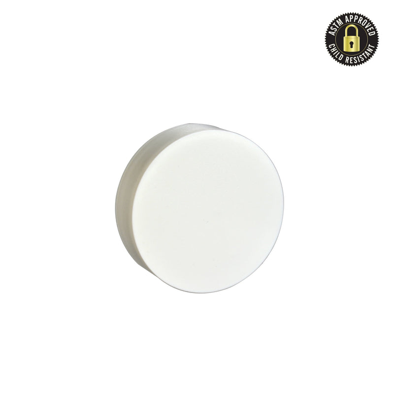 Flat Matte White Child Resistant Cap 53 MM - 120 Count