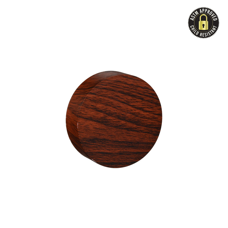 Flat Red Wood Print Child Resistant Cap 53 MM - 120 Count