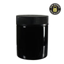 4oz CR Black Flush Cap Jars - Glossy - 100 Count