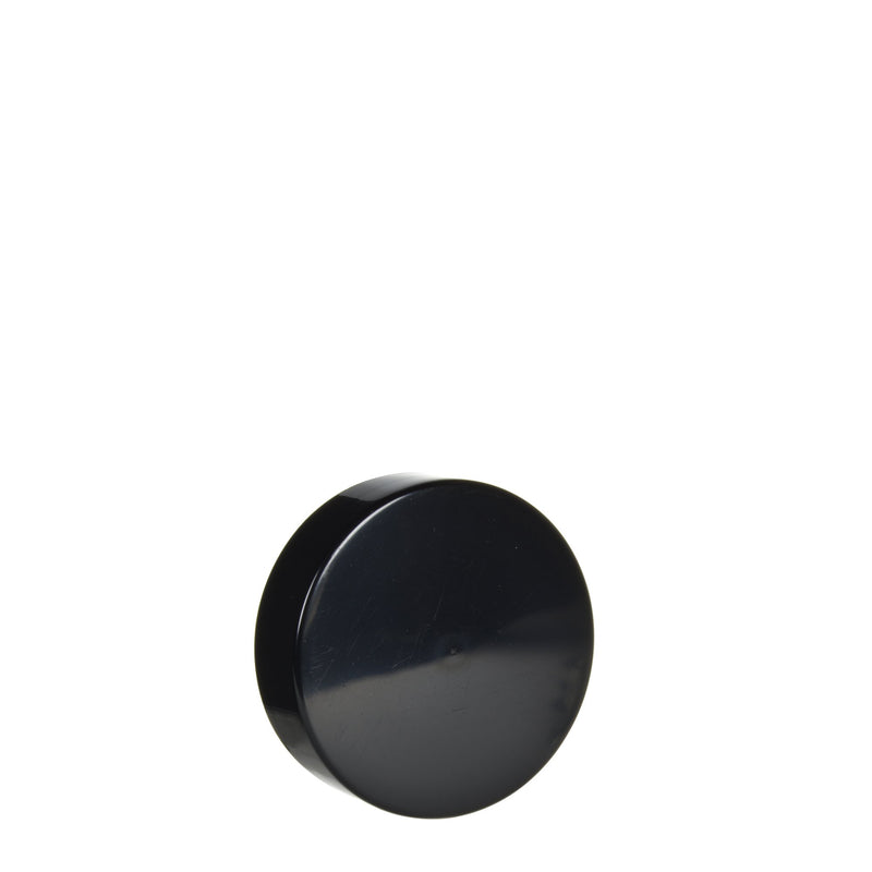 Black Smooth Sided No Text Caps for 7ml Jar - 350 Count