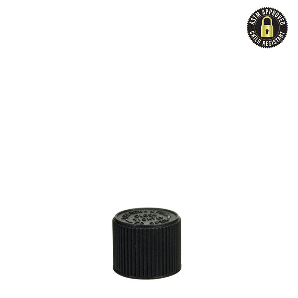 Child Resistant Cap for Glass Pre-Roll Tubes – Black - 400 Count