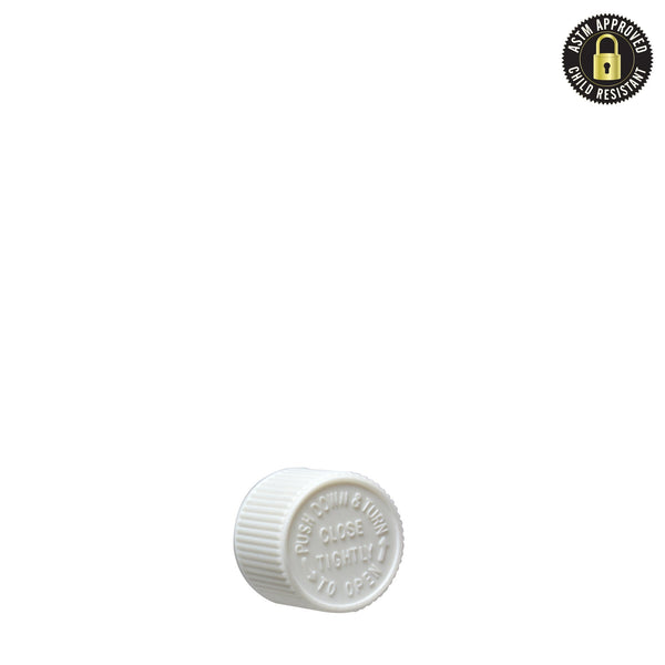 Child Resistant Cap for Glass Pre-Roll Tubes – White - 400 Count