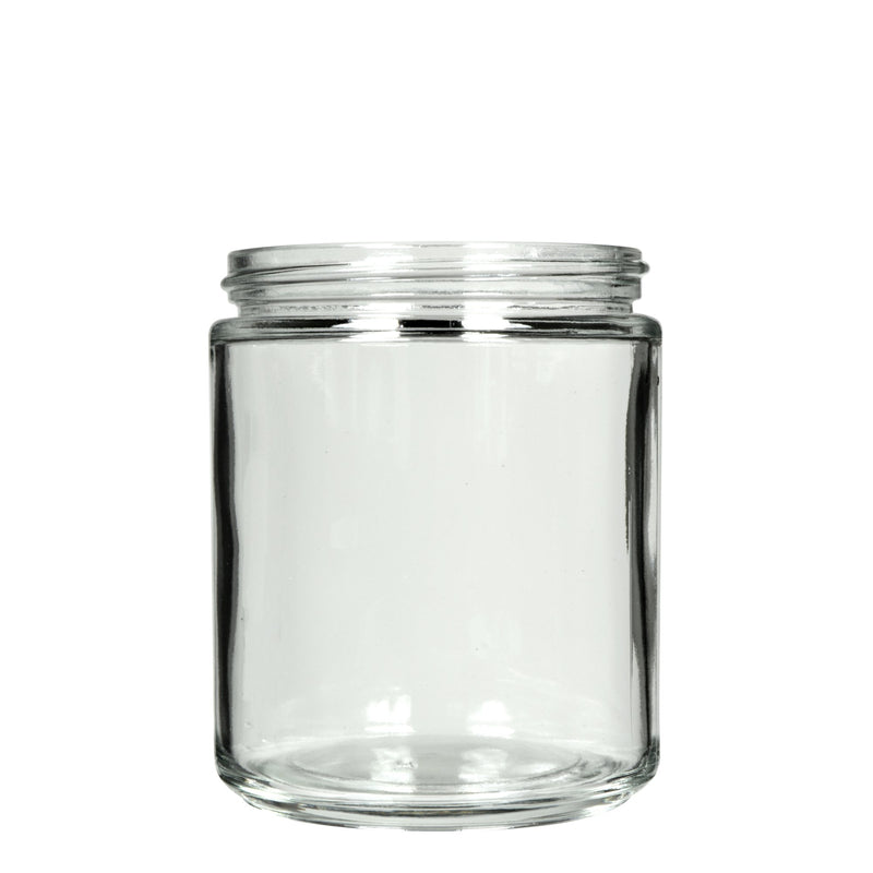 8oz Clear Glass Jars - 70/400 Threading - 36 Count