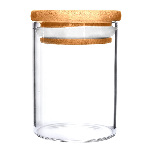 Wooden Lid Glass Jar 18oz - 40 Count