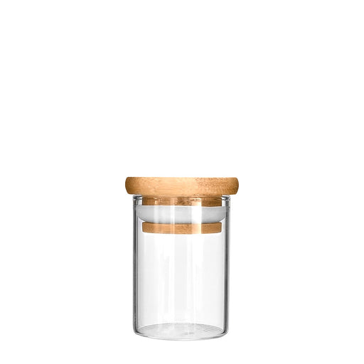 Wooden Lid Glass Jar 1oz - 200 Count