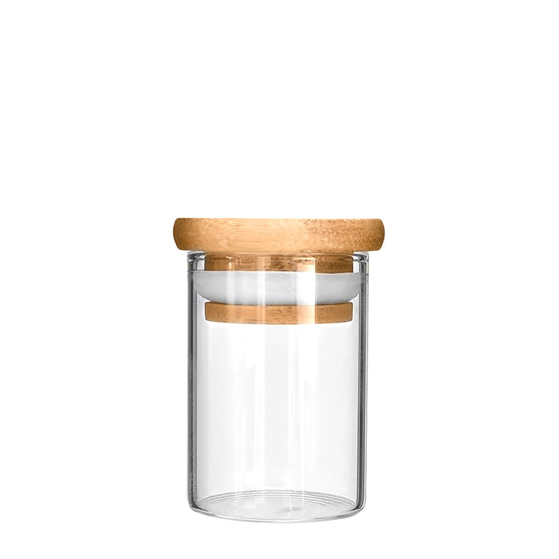 Wooden Lid Glass Jar 2oz - 200 Count