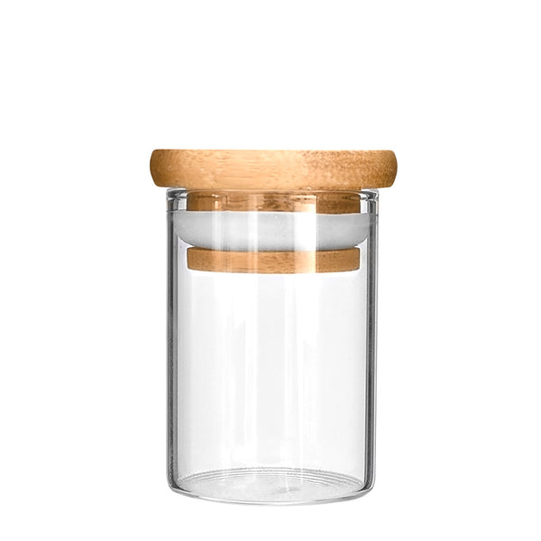 Wooden Lid Glass Jar 4oz - 120 Count
