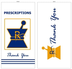 "Prescription Bags Kraft Paper - X-Large 6"" x 3.6"" x 11"""