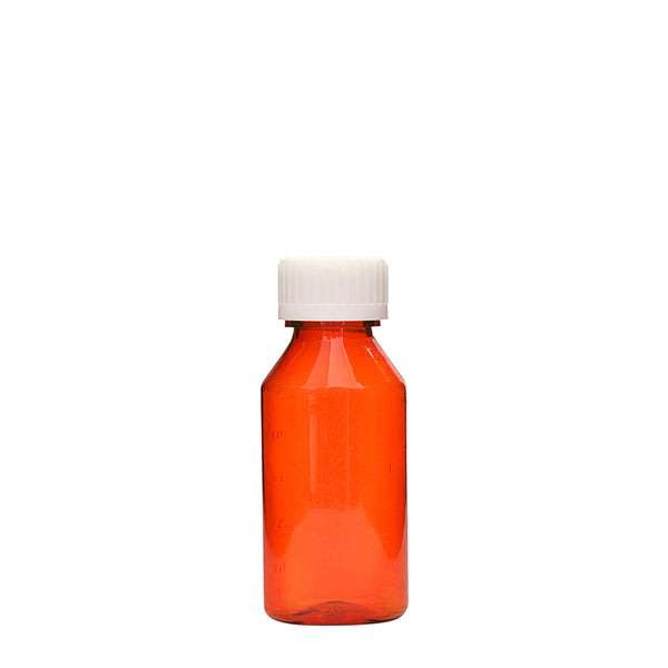 Amber Oval Bottles w/Oral Adapters 2 oz.