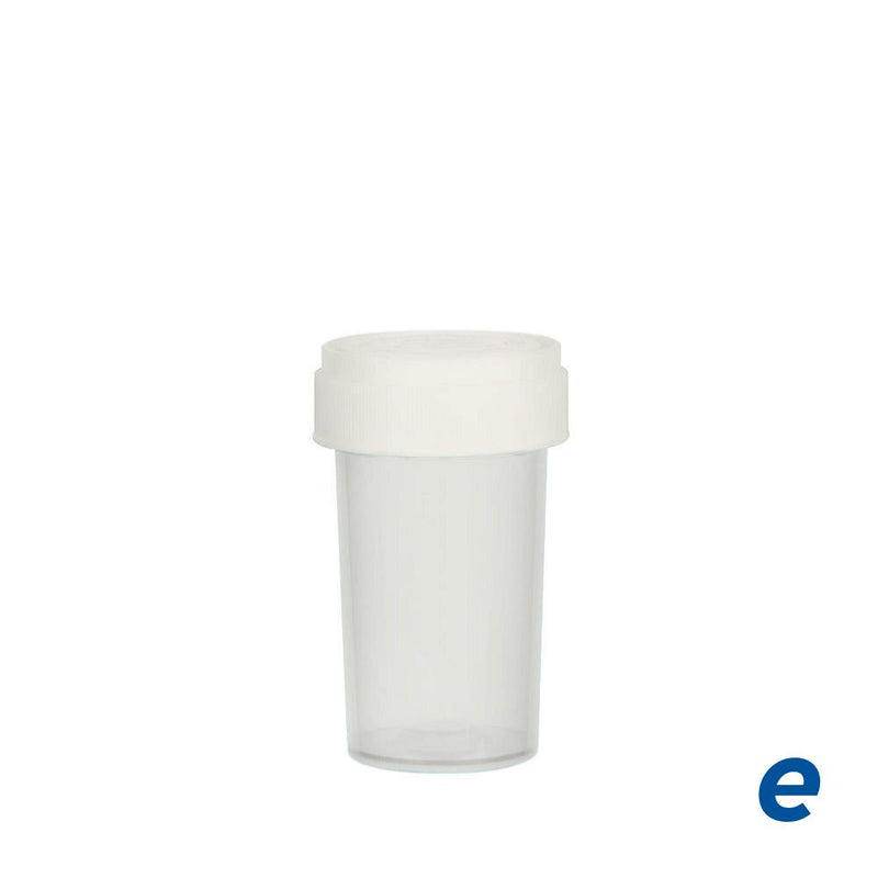 Economy Reversible Cap Vial Clear 20 Dram - 240 Count