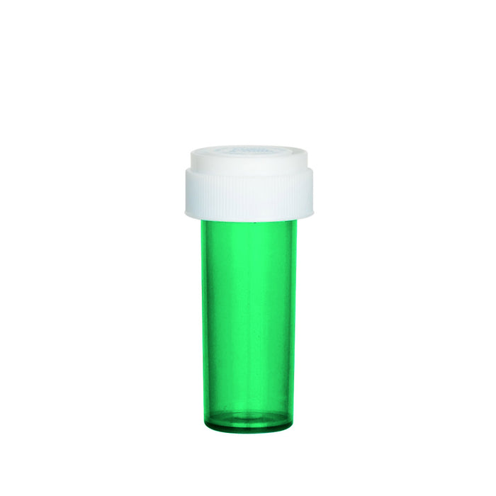 Green Reversible Cap Vial 08 Dram