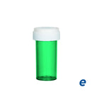 Economy Reversible Cap Vial  Green 13 Dram - 275 Count