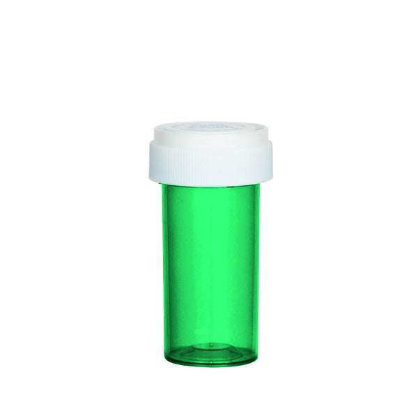 Green Reversible Cap Vial 13 Dram
