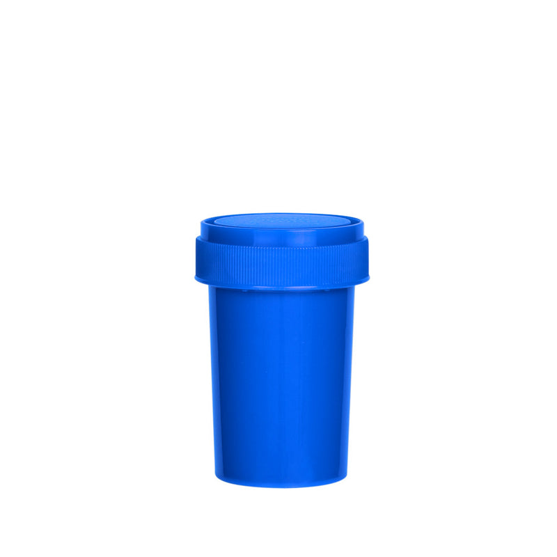 Solid Blue Reversible Cap Vial 20 Dram