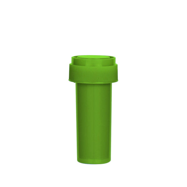 Solid Green Reversible Cap Vial 08 Dram